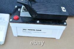 Spx Power Team Pa6m Hydraulic Pump Foot Operated Air Driven 10000 Psi New