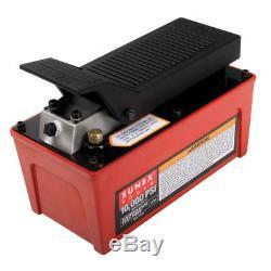 Sunex 4998 10,000Psi Capacity Air/Hydraulic Foot Pump with Internal Overload Valve