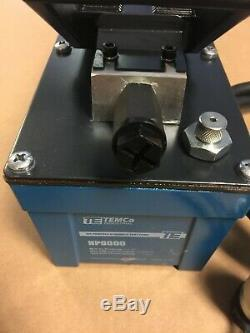 TEMCo Air Hydraulic Pump Power Pack Unit 10,000 PSI 103 in3 Cap REFURBISHED