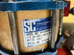 Tentec Pneumatic Air Bolt Tensioner/ Fluid/ Liquid Pump 2275 Bar 33000 Psi