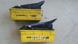 Two ENERPAC PATG1102N TURBO II AIR/HYDRAULIC PUMPS, for parts or repair